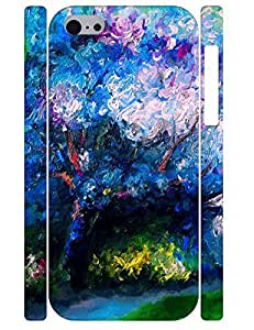 LJF phone case Custom Uncommon Painting Tree Eco Phone Snap On Case Cover for Iphone 5C