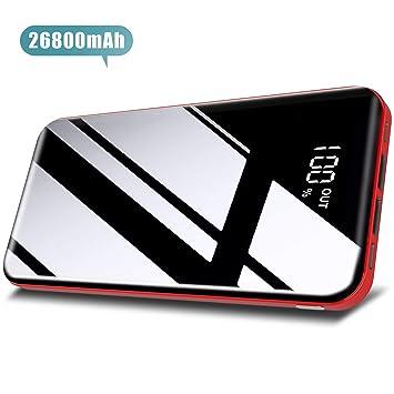 Todamay Batería Externa 26800mAh Power Bank con 3 Entradas y 2 Puertos USB Cargador Portátil Móvil Ultra Alta Capacidad con Pantalla LCD Digital para ...