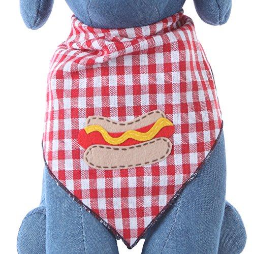 Tail Hot (Dog Bandana with Hot Dog Applique (Medium))