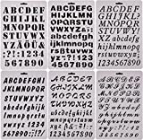 painting stencils - SOOKOO 6 PCS Drawing Painting Stencils Scale Template sets, Alphabet Letter Drawing Painting Stencils Scale Template for Scrapbooking, Card and Craft Projects