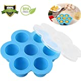 Kystpinter Silicone Egg Bites Mold for Instant Pot Accessories Fits Instant Pot 5,6,8 qt Pressure Cooker Reusable Storage Container and Freezer Tray with Lid
