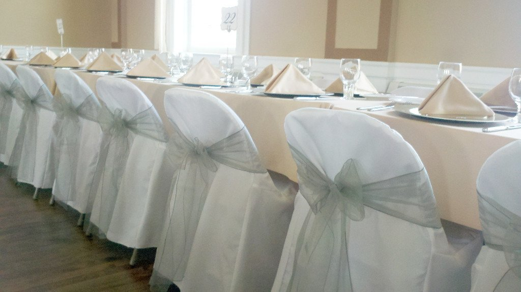 Spring Rose(TM) 100 White Polyester Standard Folding Wedding Chair Covers. Chair Sash is Not Included.