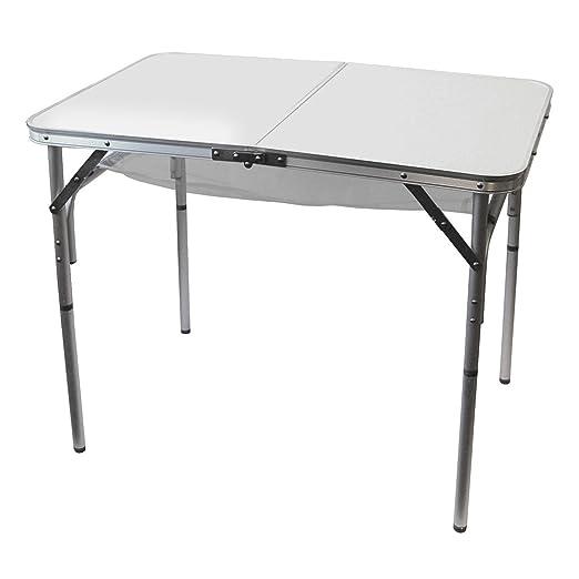 Redcliffs – Mesa Plegable de Aluminio para el jardín y Camping 90 ...