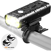 Sahara Sailor Bicycle Light-800 Lumens IPX6 Waterproof Aluminum Alloy Bike Headlight-Fits All Bicycles,Road,MTB,Easy Install & Quick Release W Free Tail Light -Black