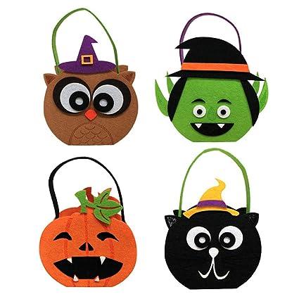 1 cesta para Halloween, diseño de búho, gato, calabaza, ghost ...