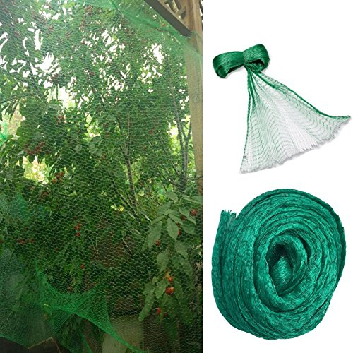 Green Anti Bird Protection Net Mesh, 33 Ft x 13 Ft Garden Plant Netting Fruits Fencing Mesh, Protect Fruit from Rodents Birds Deer and Other Pests, Best for Seedlings,Vegetables,Flowers, Fruits,Bushes