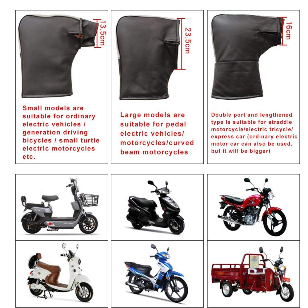 Manoplas la barra del manillar la motocicleta con tira reflectante,mitones motocicleta engrosada PU Cubierta del protector la mano prueba viento motocicleta Guante barra del scooter para motos nieve