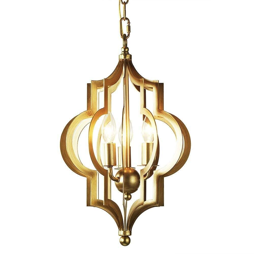 SUN HUIJIE Dining Table Chandeliers, Nordic Golden Iron Creative Lighting Decorative Chandelier Ceiling Lamps Postmodern Living Room Bedroom Cafe Pendant Light (Size : 4270cm)