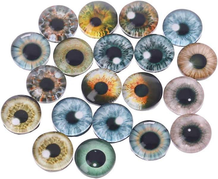 Reborning Augen Im Glas Briefbeschwerer 20 MM Puppen Antik Oder Modern