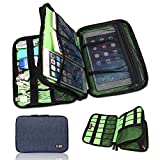 BUBM Universal Cable Organizer Electronics Accessories Case Various USB, Phone, Charge, Cable organizer Travel Organizer (Double Layer Dark Blue)