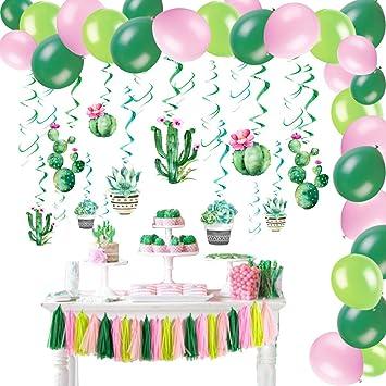 Amazon.com: Cactus Set de decoración para fiestas, cactus ...