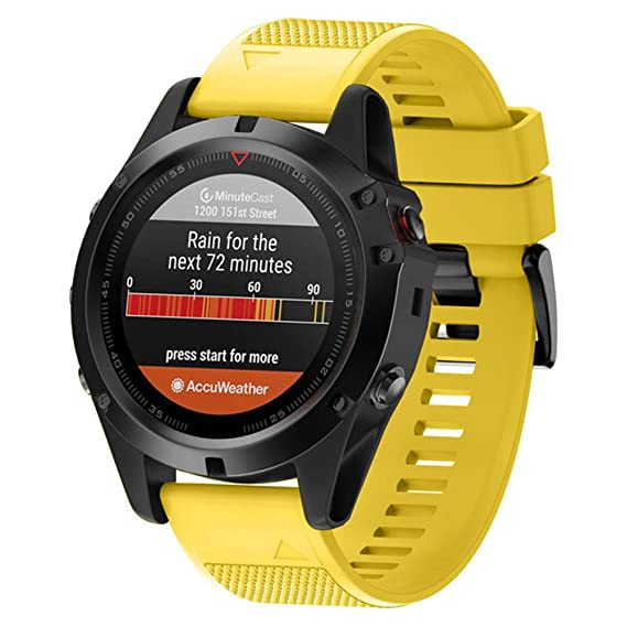 Jewh Watchband for Garmin Fenix 5X/Fenix 3/Fenix 3 HR - Replacement Soft