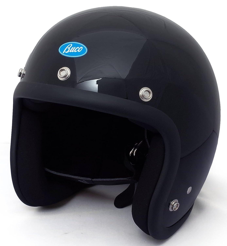 BUCO EXTRA BUCO 70's スタイル プレーン モデル ジェットヘルメット B07CWTRL1D  ブラック XL