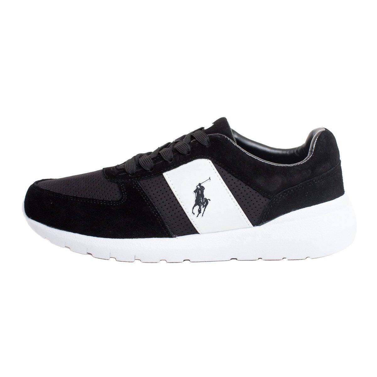 Ralph Lauren CORDELL-SK-ATH Sneakers Hombre BLK 44: Amazon.es ...