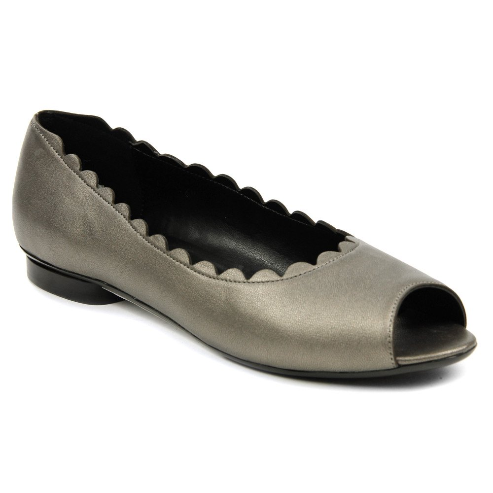 VANELi Women's Arty Ballet Flat B01CGXKQOS 9 N US|Pewter Metallic Nappa