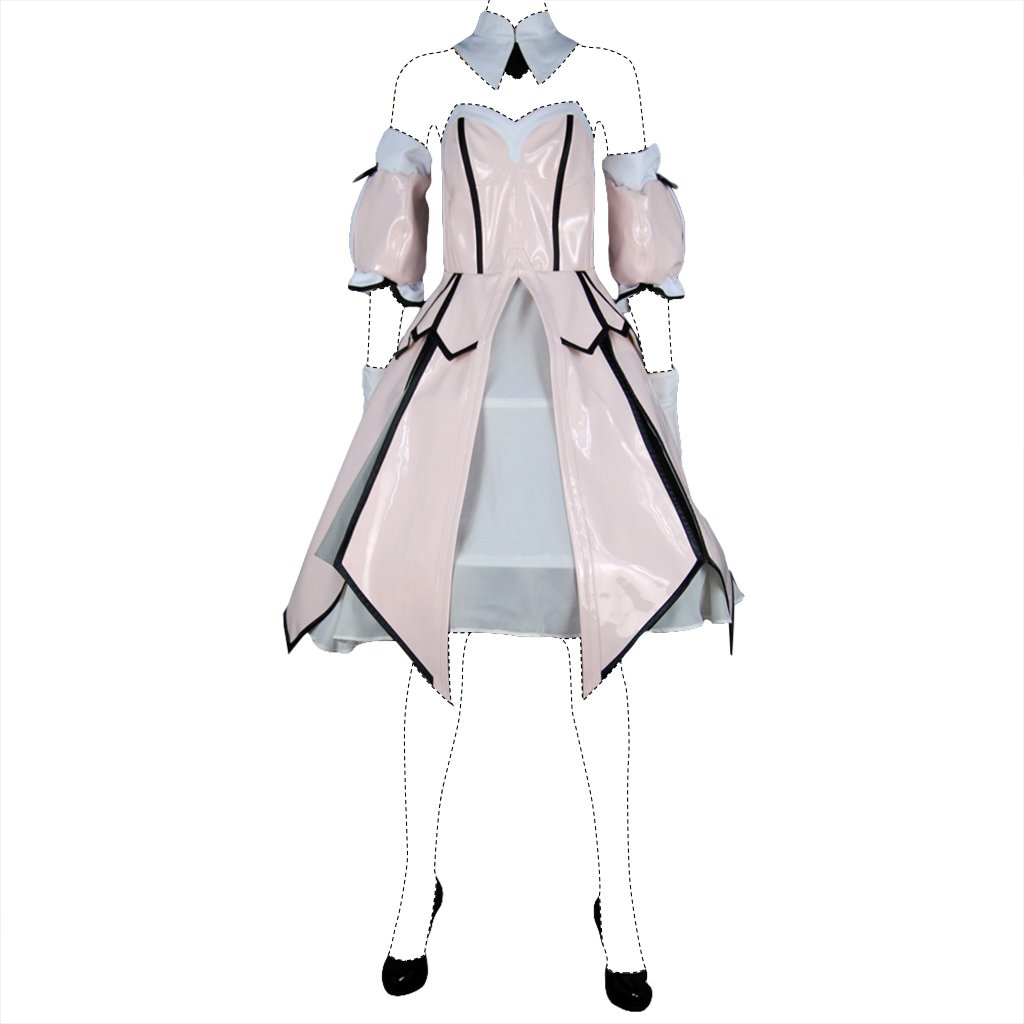 Holysteed Fate/Stay Night Cosplay Costume Saber Seba Lily Dress US Women 8.5