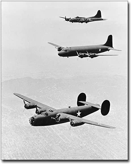 B-17 FLYING FORTRESS WWII BOMBER 8x12 SILVER HALIDE PHOTO PRINT