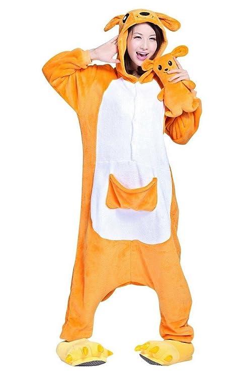 nuovi stili 50ad3 b7ac4 Hot Unisex Costume Carnevale Halloween Pigiama Animali Kigurumi Cosplay Zoo  Onesies tuta-S/149-Canguro