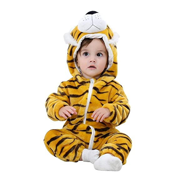 c7d9610ae BEBIG Baby Rompers Flannel Cartoon Animal Pajamas Winter Front ...