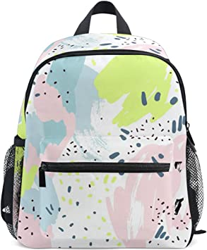 Fabulous Abstract Surreality Pattern Kaleidoscope School Backpack For Boys Kids Preschool School Bag Toddler Bookbag