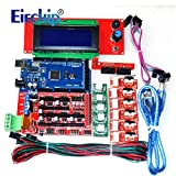 Eiechip CNC 3D Printer Kit for Arduino Mega 2560 R3 + RAMPS 1.4 Controller + LCD 2004 + 6X Limit Switch Endstop + 5 A4988 Stepper Driver