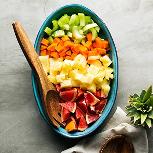 He Xiang Ya Shop Blue Large Dinner Plate Soup Plate Household Fruit Salad Dish Fish Plate Ceramic Dinnerware by He Xiang Ya Shop (Image #2)'