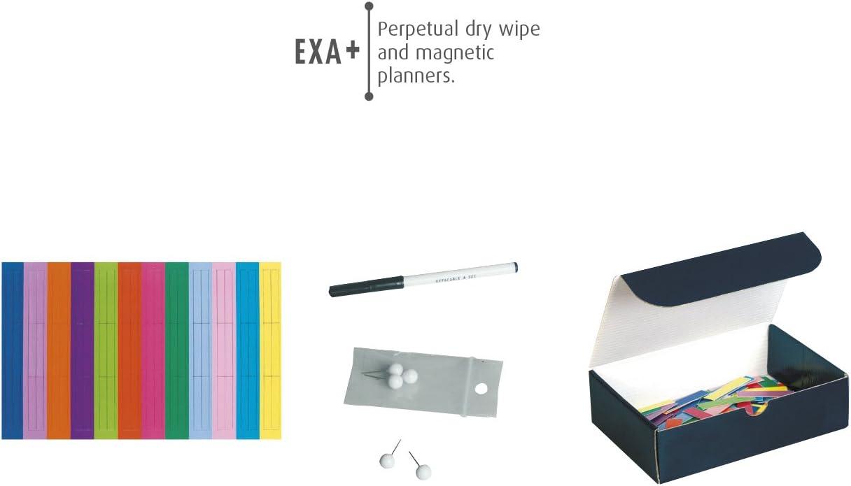 475 mm 610 x L H EXACOMPTA Planning annuel Exaplanner,