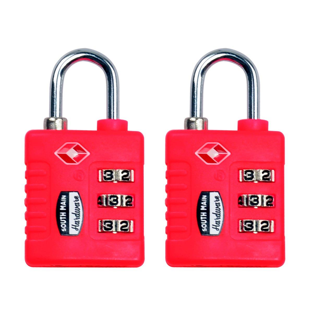Southメインハードウェア810110 tsa-acceptedリセット可能荷物ロック2パック、パープル 810109 2 B01C3ZVVR0 ピンク