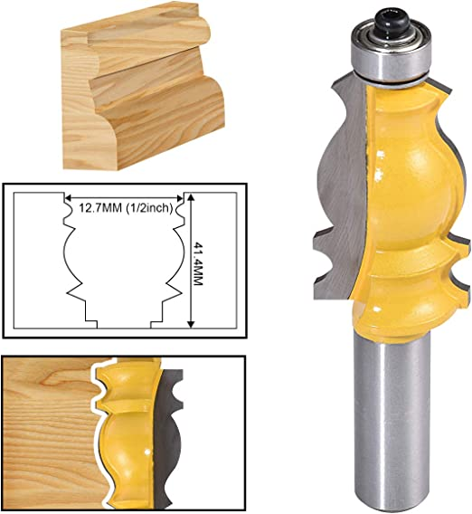 1//2/'/' Shank Architectural Molding Router Bit Woodworking Milling Cutter Tools