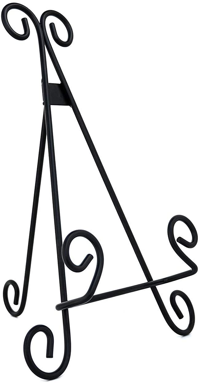 Large Curl Up /& Stand Photo Picture Frame Stand Nickel For Table Desktop