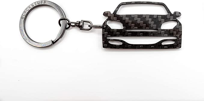 Blackstuff Carbon Karbonfaser Schlüsselanhänger Kompatibel Mit Megane Iii Sport Rs 2010 2014 Bs 668 Auto