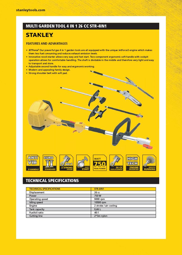 Stanley 604200040 herramientas de jardín térmica 4 en 1, 700 W ...