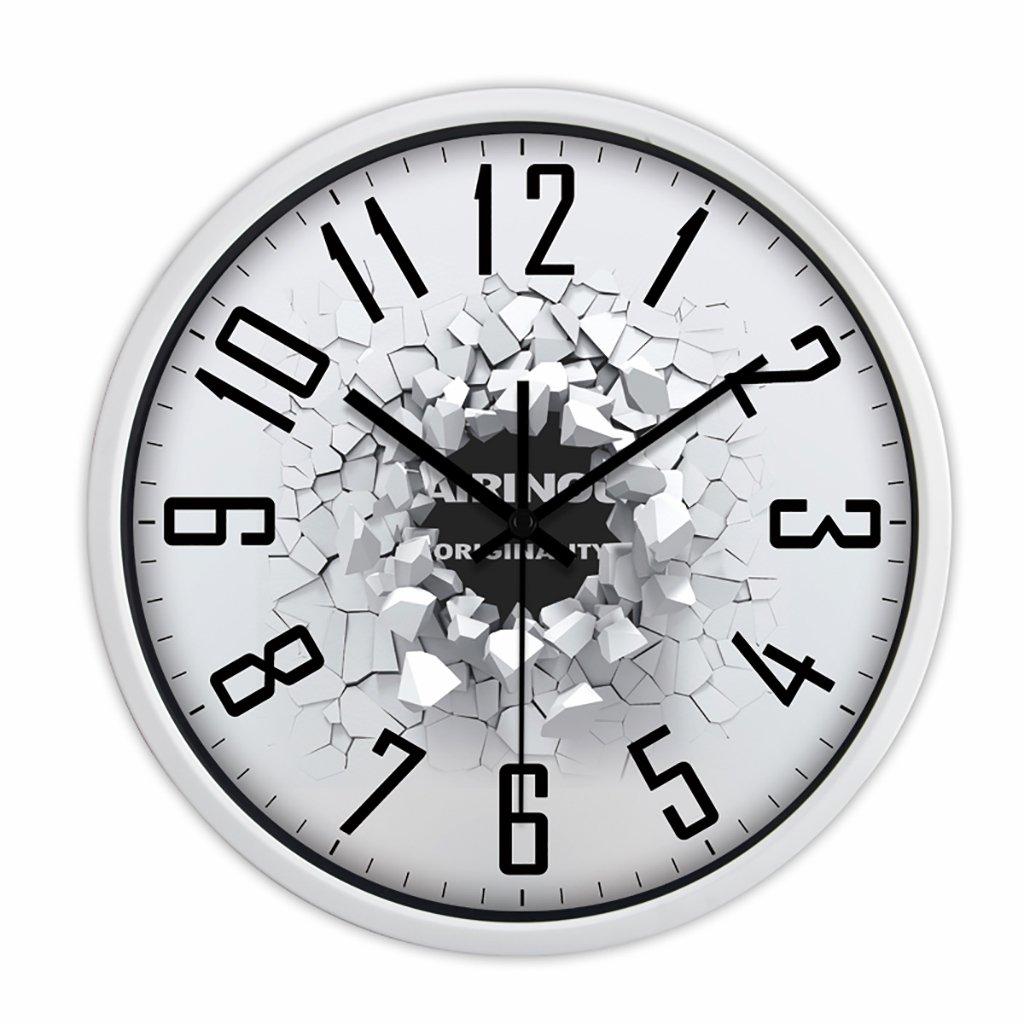 沈黙時計ウォールクロックリビングルームモダンなクリエイティブ人格ヨーロッパのクォーツ時計ハンギングベッドルームシンプルな時計 (色 : 3, サイズ さいず : 12in) B07FVMDQ6L 12in|3 3 12in