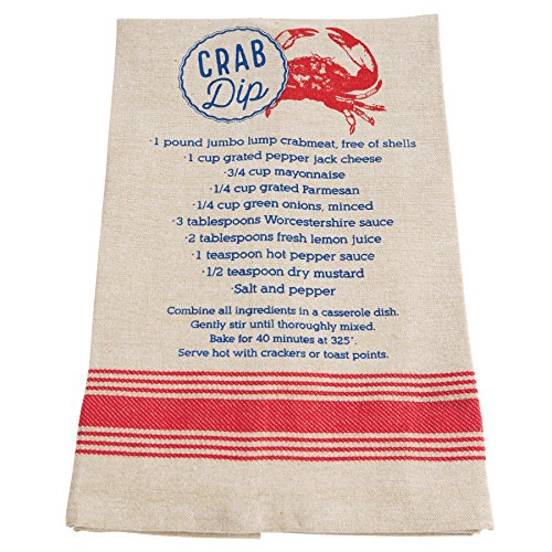 Mud Pie Chambray Crab Dip Recipe Kitchen Towel -