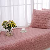 YYL Plush Sofa Cushions, Bay Window mat Fabric Stylish Anti-skidding European Style Sofa Towel-A 90x120cm(35x47inch)
