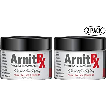 best selling ArnitRX Pain Relief Cream 4 oz Jar! Anti-inflammatory & Penetrative Recovery Formula with Arnica