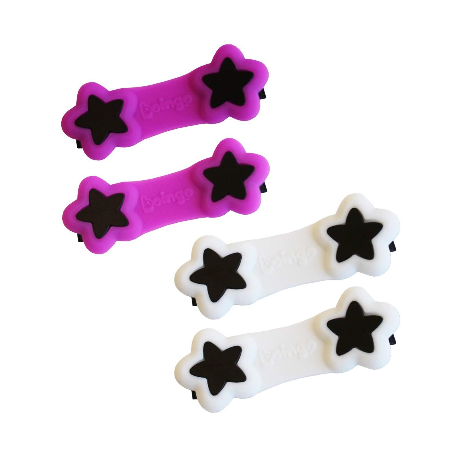 Boingo Baby Cloth Diaper Fastener - 2 Pack - White & Purple by Boingo Baby