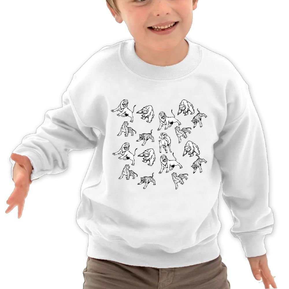 JasonMade Kids Forest Animal Tiger Goat Bear Humor Crewneck Pullover Sweaters