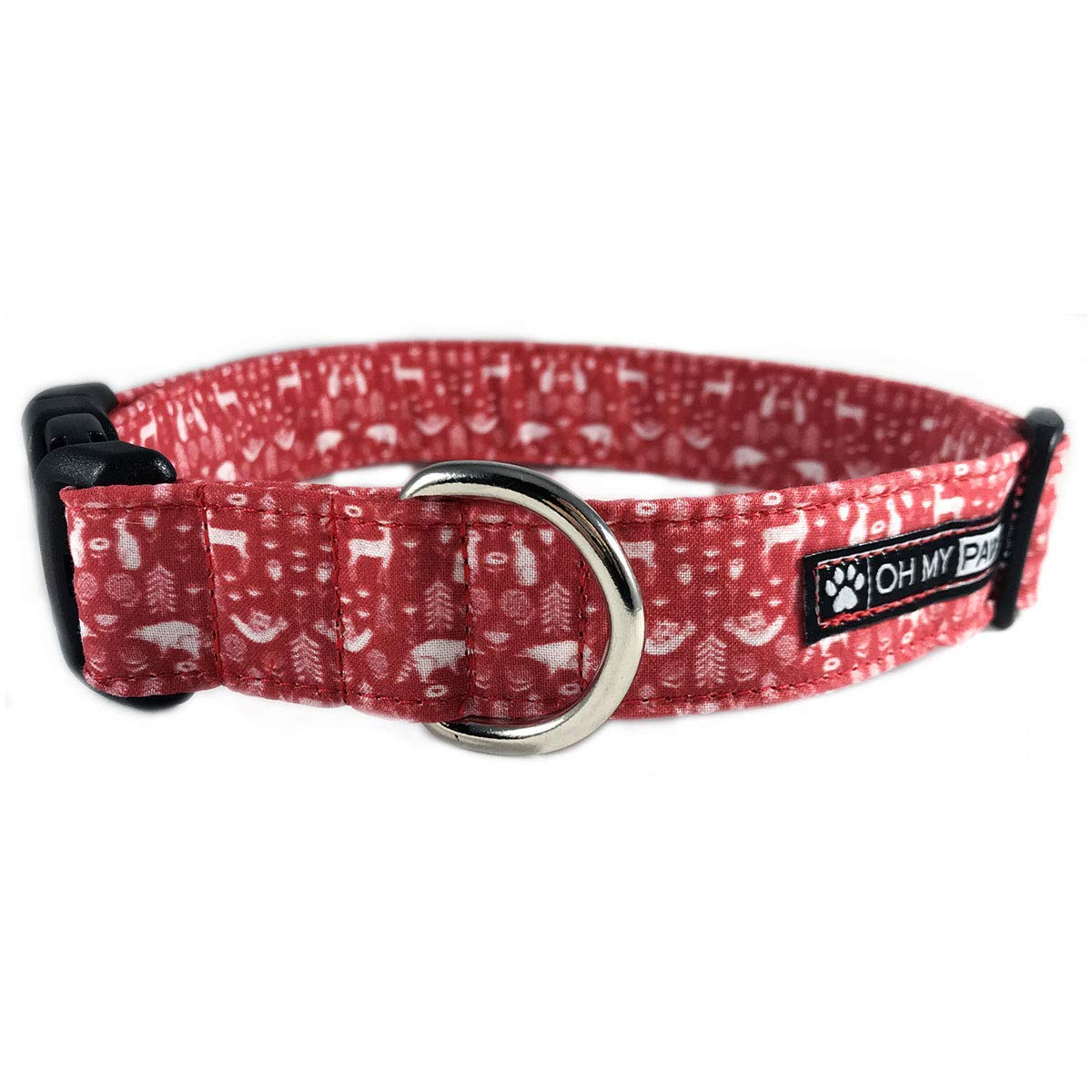 Red Scandinavian Dog Collar/Cat Collar for Pets Size Extra Small 5/8