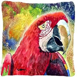 Pájaro–loro decorativo tela almohada