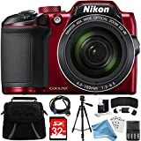 Nikon COOLPIX B500 16MP 40x Optical Zoom Digital Camera 32GB Bundle includes Camera, Bag, 32GB Memory Card, Reader, Wallet, AA Batteries + Charger, HDMI Cable, Tripod, DigitalAndMore Cloth and More