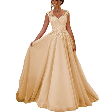 Yuxin Elegant Lace V Neck Prom Dresses Pink Long Evening Party Gowns Plus Size Formal Dress