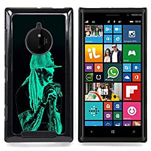 Neon Rasta Guy Caja protectora de pl??stico duro Dise?¡Àado King Case For Nokia Lumia 830