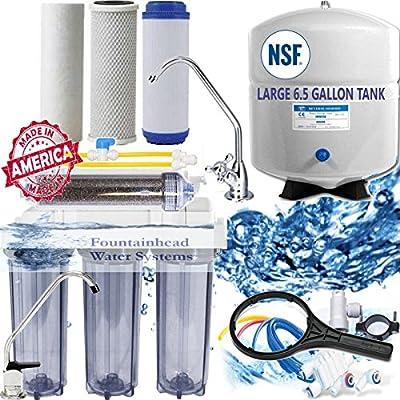 RO/DI Dual Outlet Drinking water/Aquarium System Clear Lg Tank Manual Flush 150G