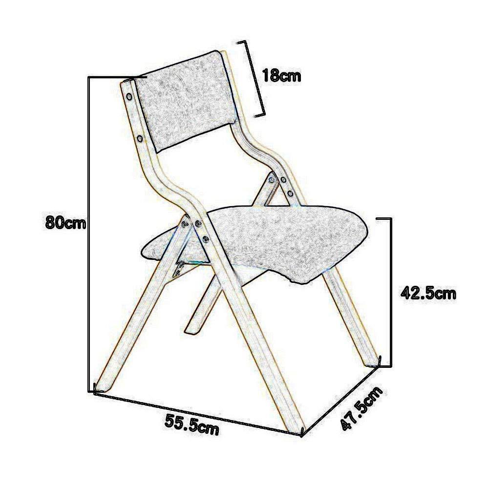 JIEER-C Fritid kontorsstol stol pallar vilstol trä hopfällbar matsal kontor skrivbord dator hållbar stark T4