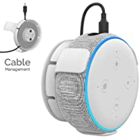 AhaStyle ABS Wall Mount Hanger Holder [Built-in Cord Management] Compatible with All-New Echo Dot 3rd Generation (White)