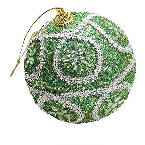 Mome2018 Christmas Pendant  Christmas Ball Ornaments Shatterproof Christmas Decorations Tree Balls Small for Holiday Wedding Party Decoration, Tree Ornaments Hooks Included 6 Colors (Green)