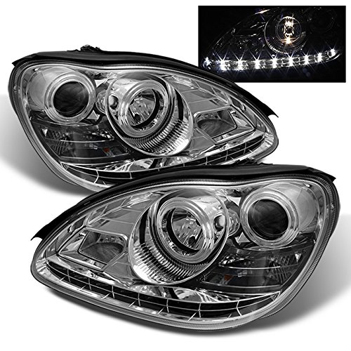 Mercedes Benz W220 S-Class Sedan Chrome Clear DRLDaylight LED Halogen Type Projector (Class Crystal Headlights)