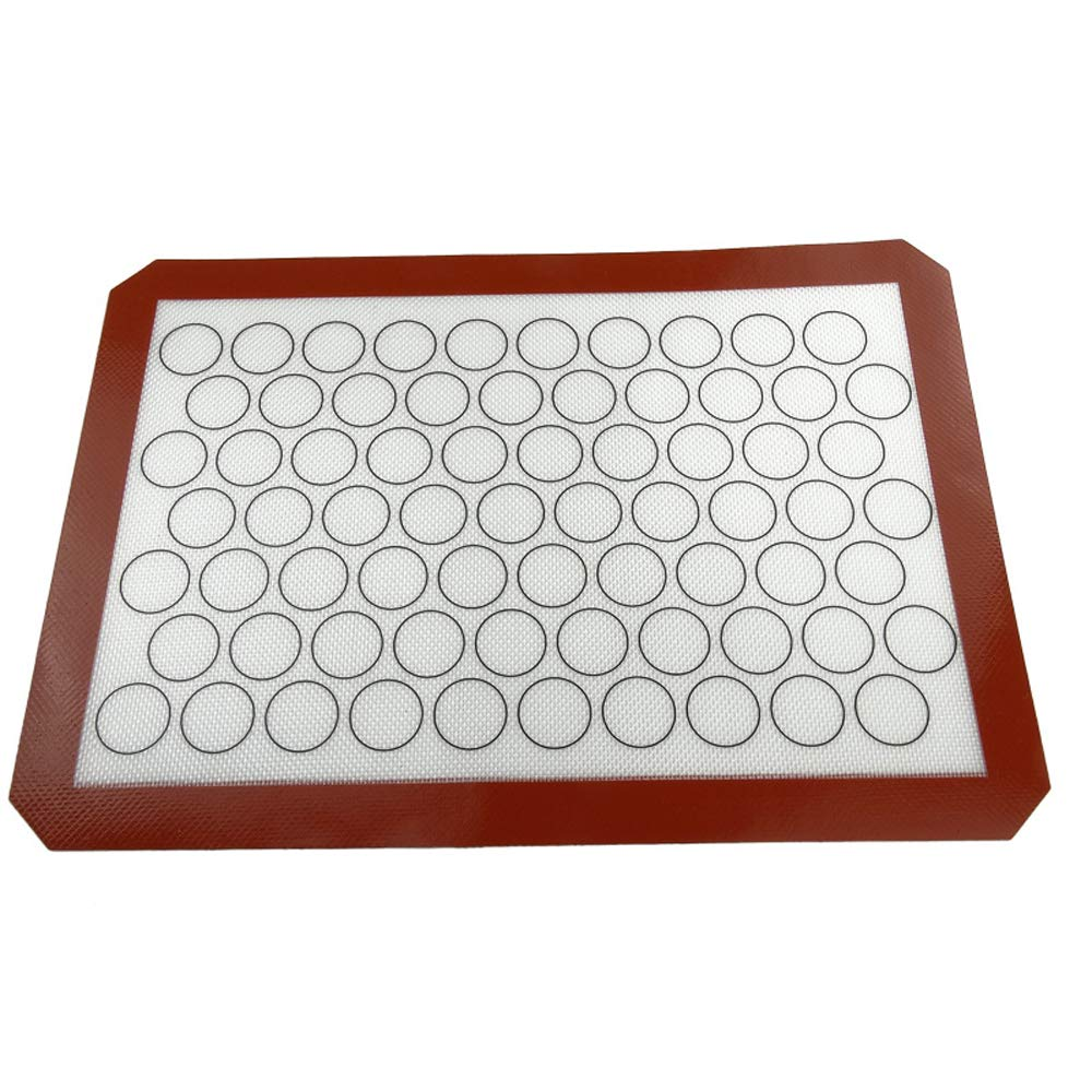 LETOOR Silicone Baking Mat Non-Stick Cookie Sheet 16.5 inch Coffee color