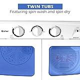 Giantex Portable Mini Compact Twin Tub Washing